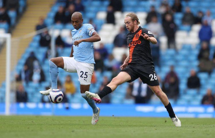 Everton Tom Davies vs Man City