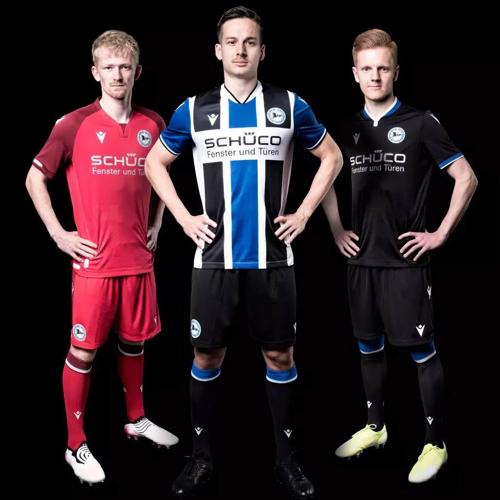 Le nuove maglie dell'Arminia Bielefeld 2021-2022