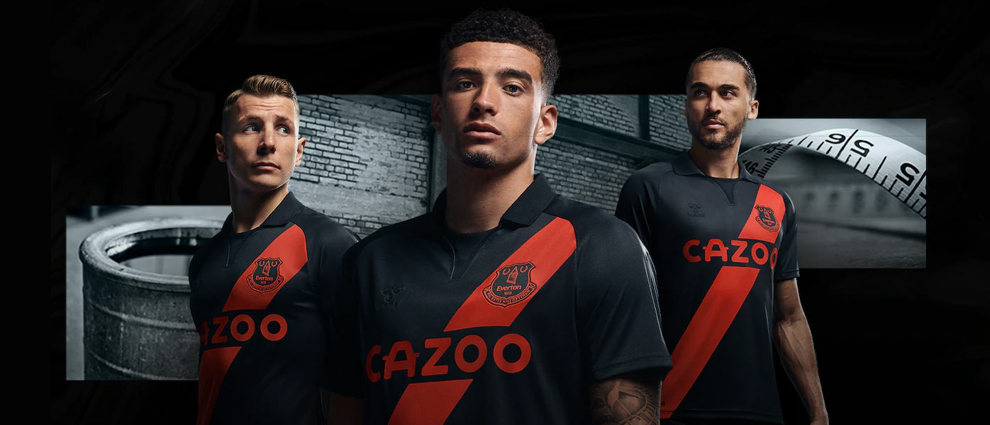 La nuova maglia away dell'Everton 2021-2022
