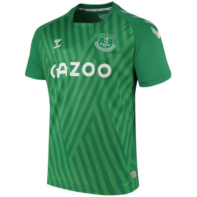 Maglia portiere Everton verde 2021-2022
