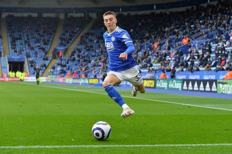 La nuova divisa del Leicester 2021-2022 in campo