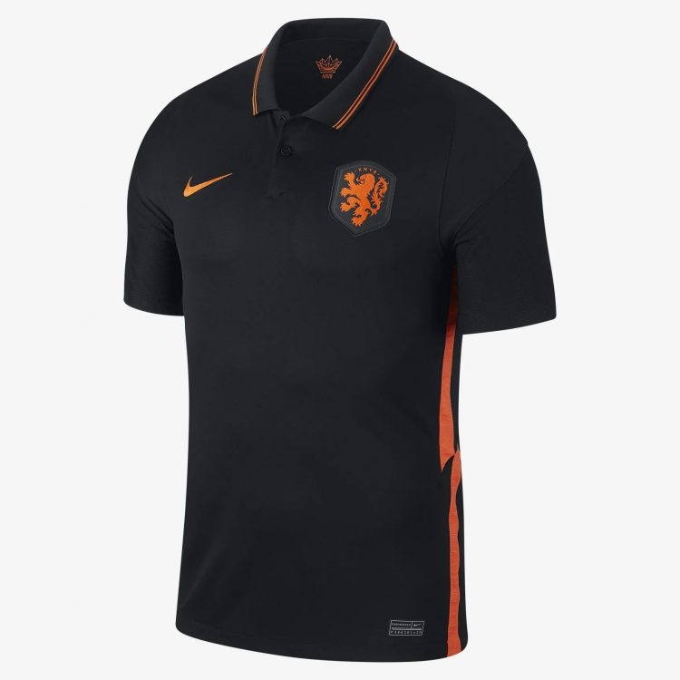 Seconda maglia Olanda nera 2020-2021