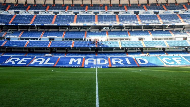 Spalti stadio Bernabeu Madrid