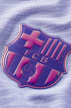 Logo Barcellona iridescente sulla maglia away