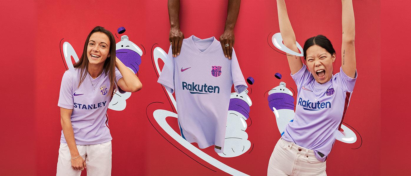 La nuova maglia away del Barcellona 2021-2022