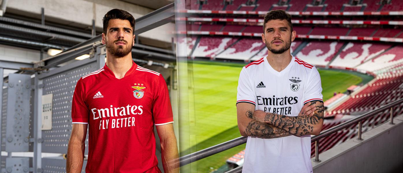 Le nuove maglie del Benfica 2021-2022