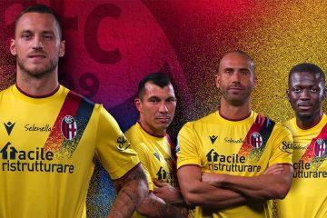 La nuova terza maglia gialla del Bologna 2021-2022