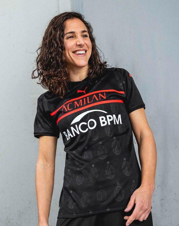 Boquete con la terza maglia del Milan femminile