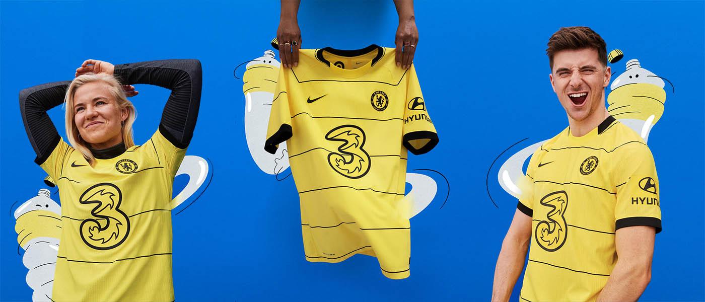 La nuova maglia away del Chelsea 2021-2022 gialla