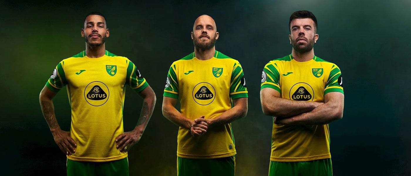La nuova maglia del Norwich 2021-2022 Joma