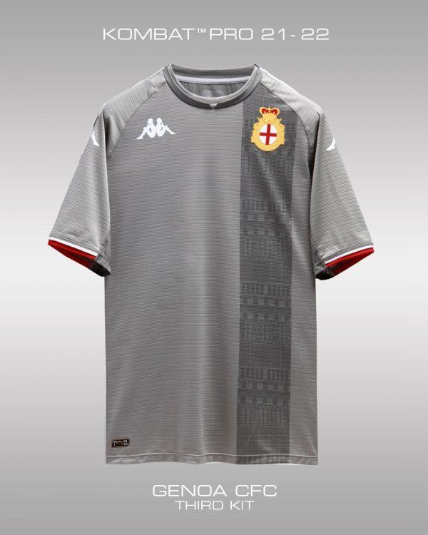 Terza maglia Genoa grigia 2021-2022