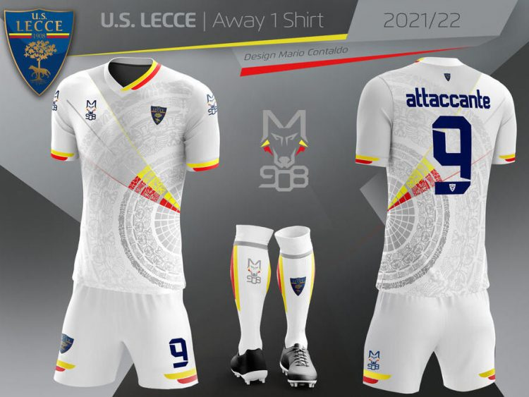 Lecce divisa trasferta 2021-2022