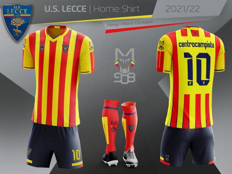 Kit Lecce 2021-2022 giallorosso
