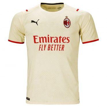 Seconda maglia Milan 2021-2022 dorata
