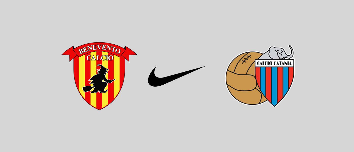 Nike sponsor Benevento e Catania