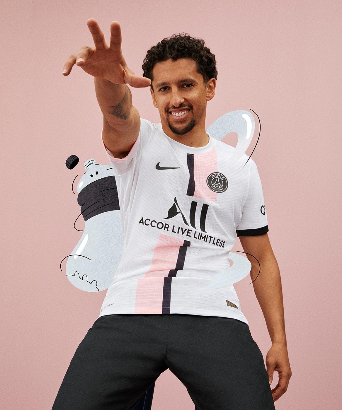 Seconda maglia PSG 2021-2022 con un rosanero mai visto prima!