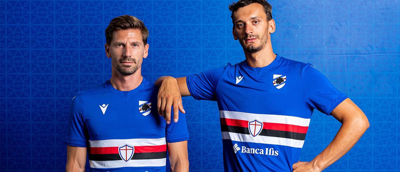 La nuova maglia della Sampdoria 2021-2022