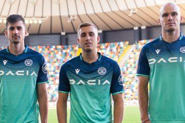 Turchese e Blu per la nuova maglia dell'Udinese away 2021-22