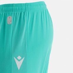 Dettaglio pantaloncini Udinese turchese