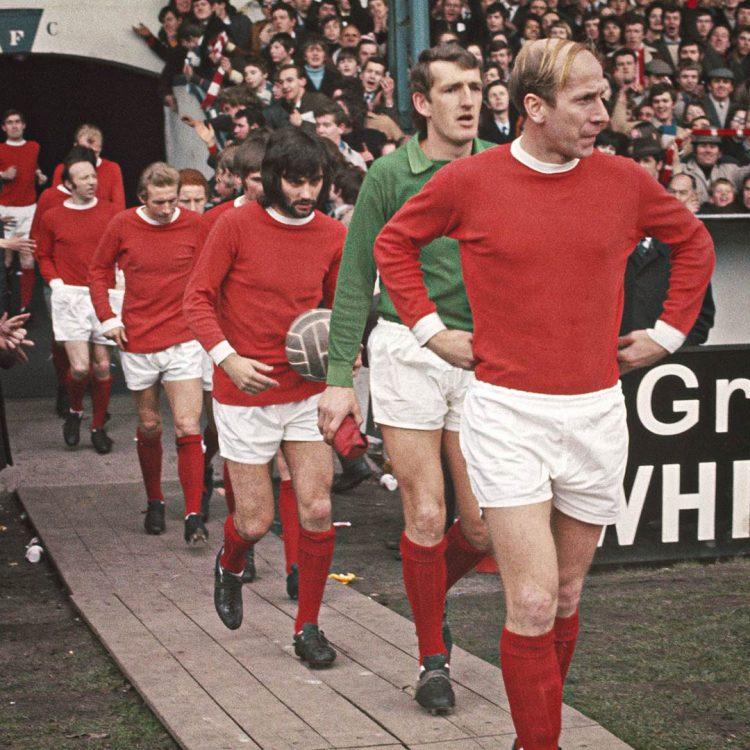 La divisa del Manchester United negli anni '60