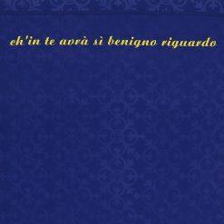 La frase tratta dal canto del Paradiso, maglia Verona