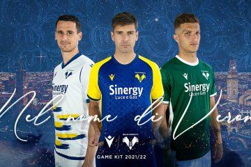 Le nuove maglie del Verona 2021-2022