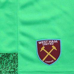 Dettaglio pantaloncini portiere West Ham