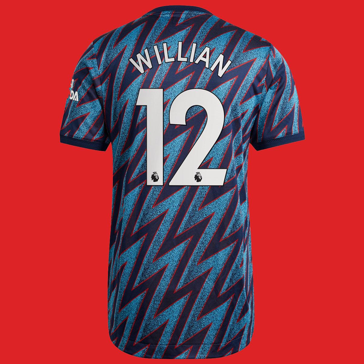 Terza maglia Arsenal 2021-2022 Willian 12