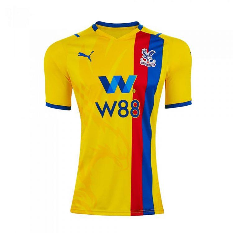 Seconda maglia Crystal Palace 2021-2022 gialla