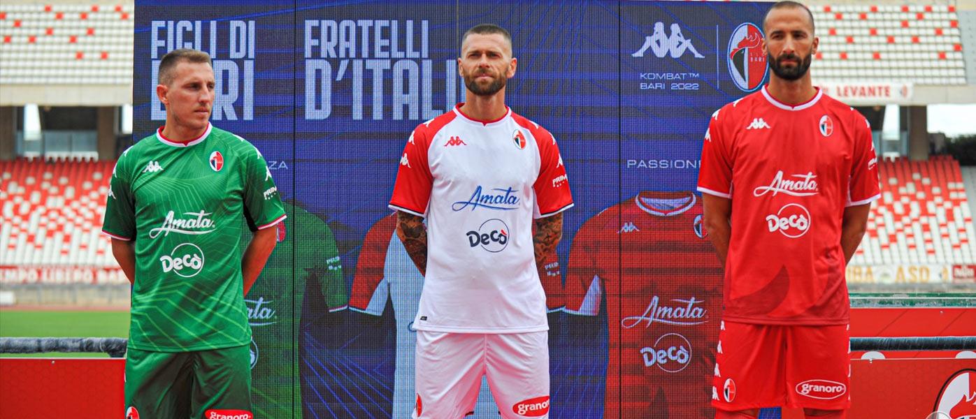 Le maglie del Bari 2021-2022