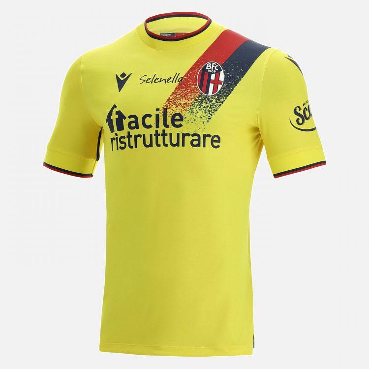 Terza maglia Bologna gialla 2021-2022