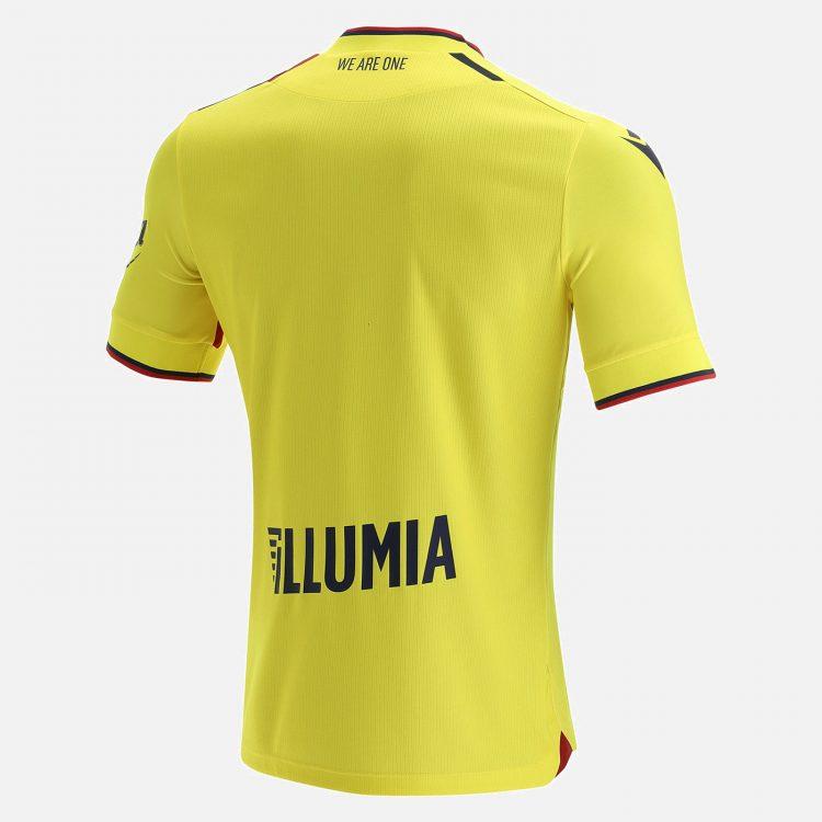 Terza maglia Bologna gialla 2021-2022 retro