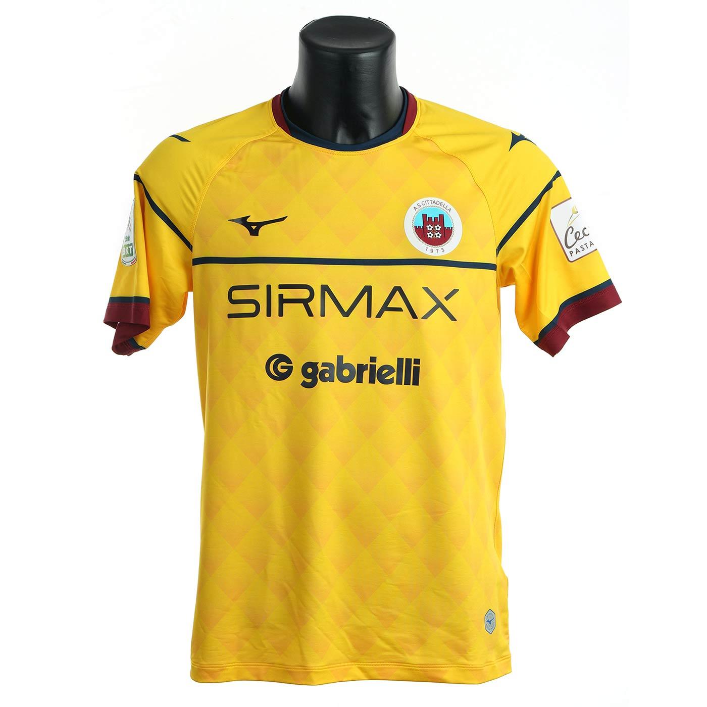 Seconda maglia Cittadella gialla 2021-2022
