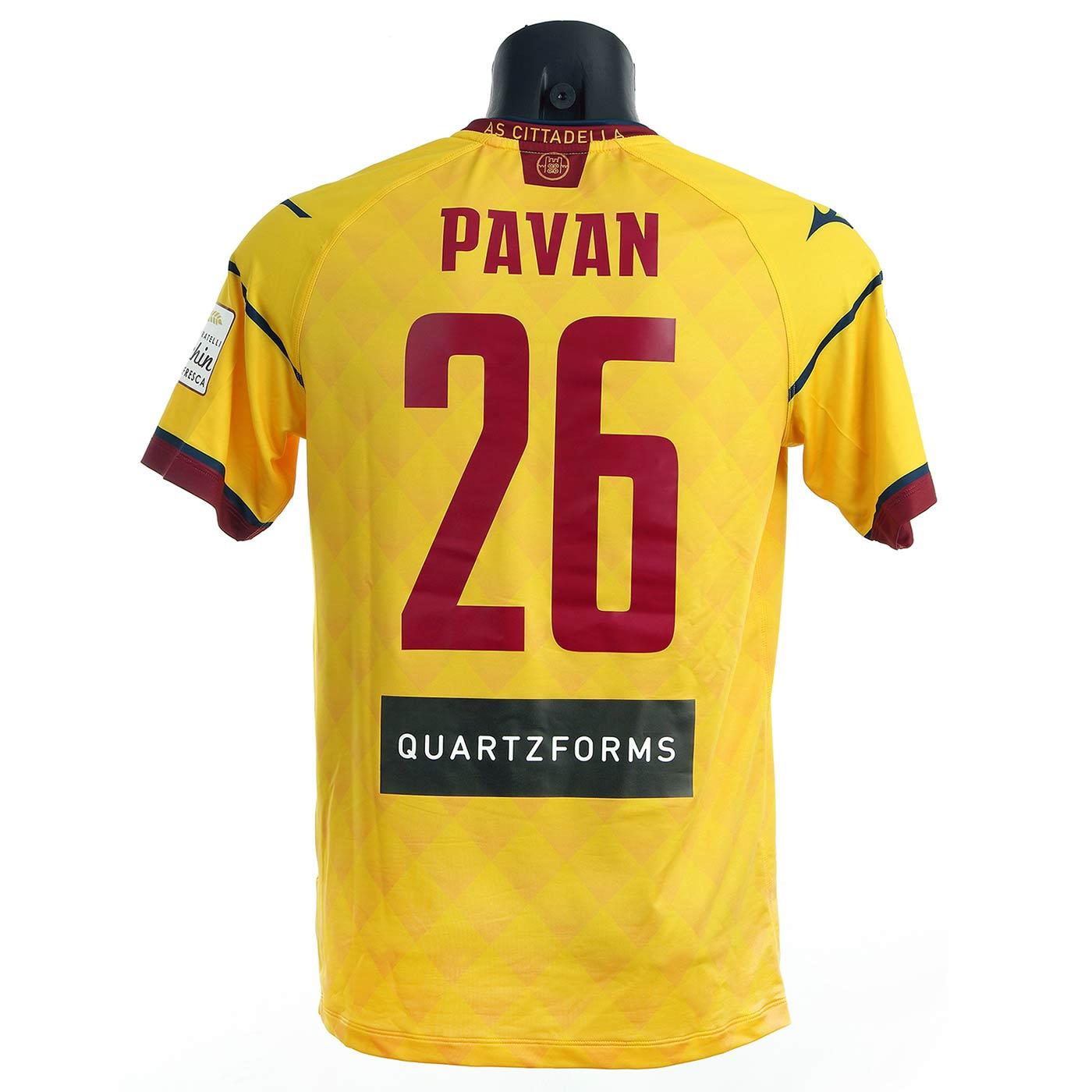 Seconda maglia Cittadella gialla 2021-2022 Pavan