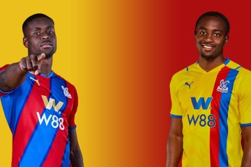 Le nuove maglie del Crystal Palace 2021-2022
