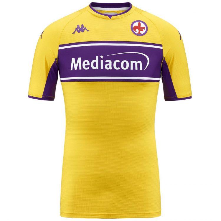 Terza maglia Fiorentina gialla 2021-22