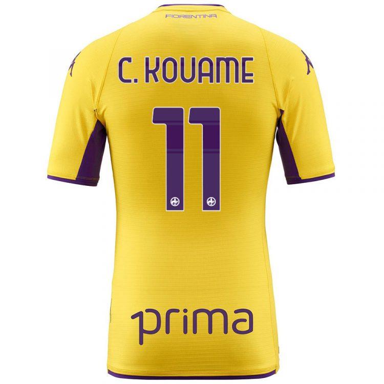 Terza maglia Fiorentina gialla Kouame 11