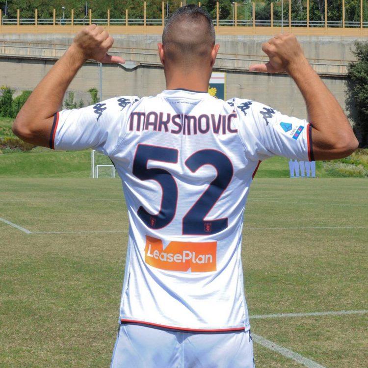 Maksimovic 52 nuova maglia Genoa trasferta