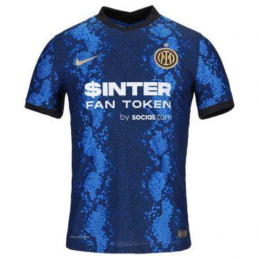 La nuova maglia dell'Inter 2021-22 a pelle di serpente