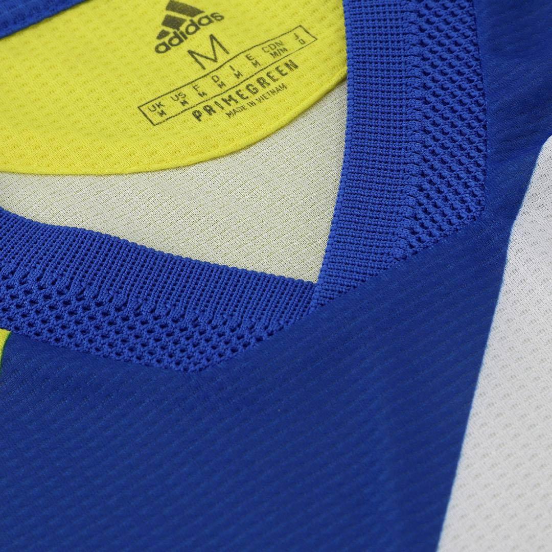 Colletto terza maglia Juve gialloblù