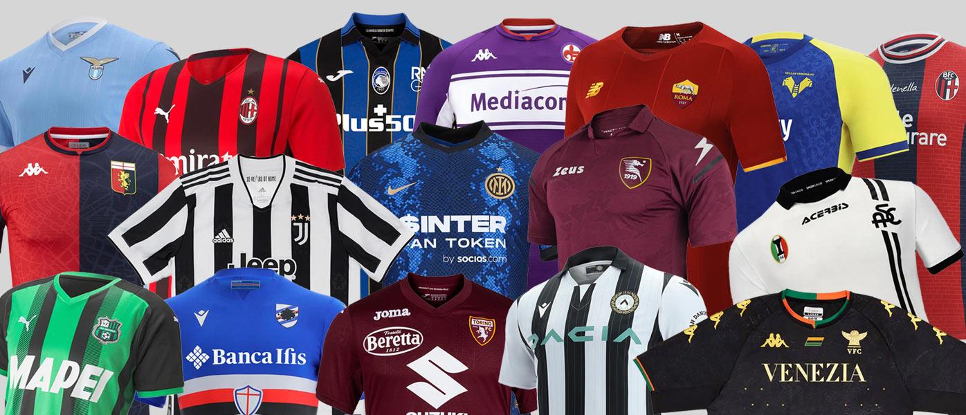 Le nuove maglie della Serie A 2021-2022