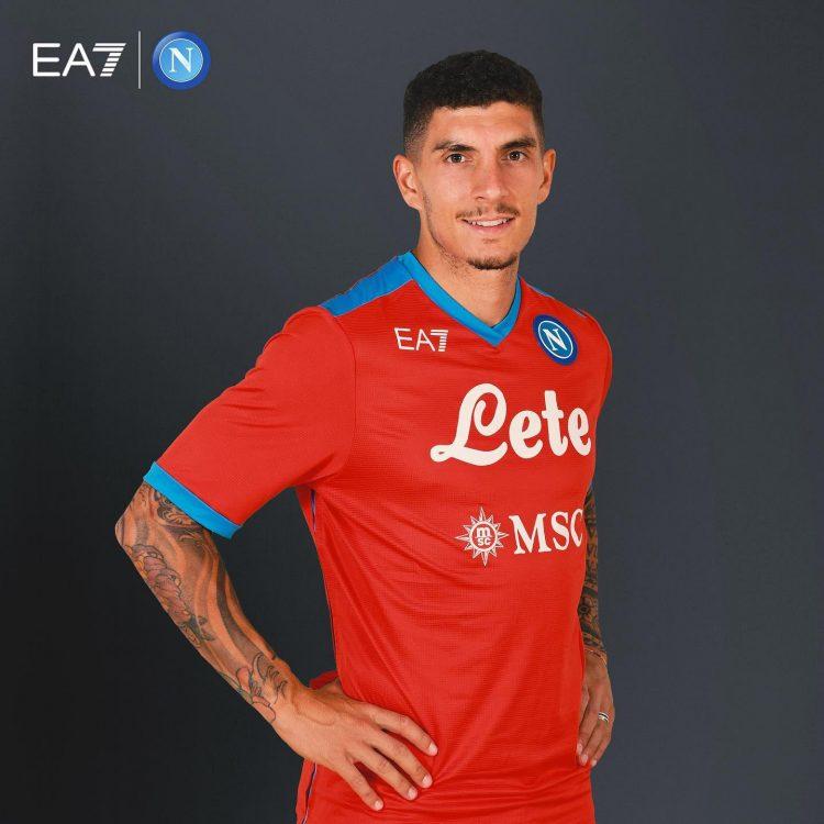 Napoli quarta maglia 2021-2022 rossa