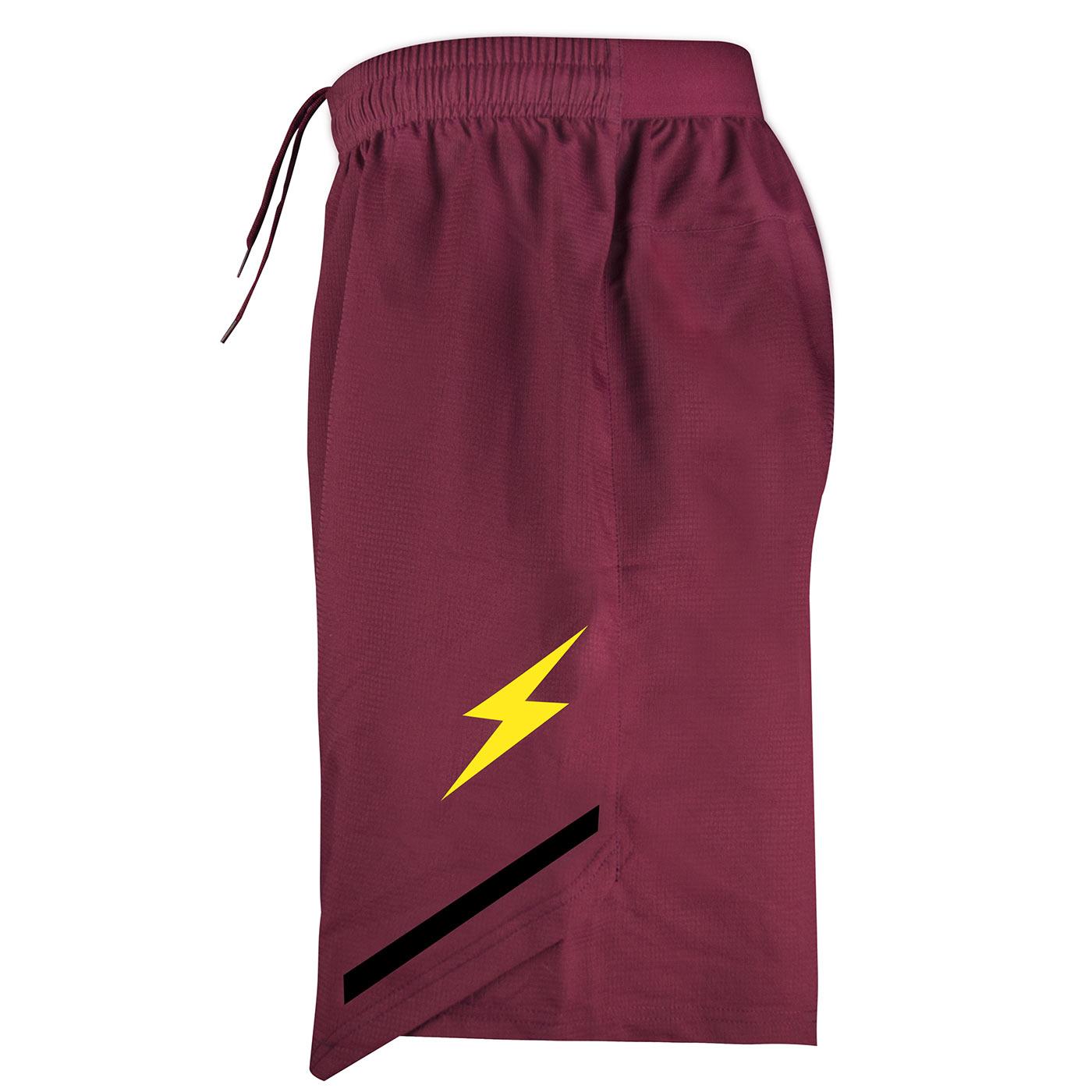 Pantaloncini Salernitana granata Zeus lato