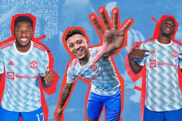 La nuova maglia away del Manchester United 2021-2022