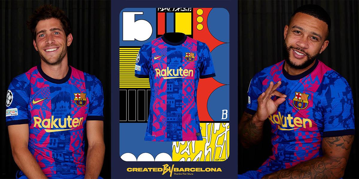La nuova terza maglia del Barcellona 2021-2022