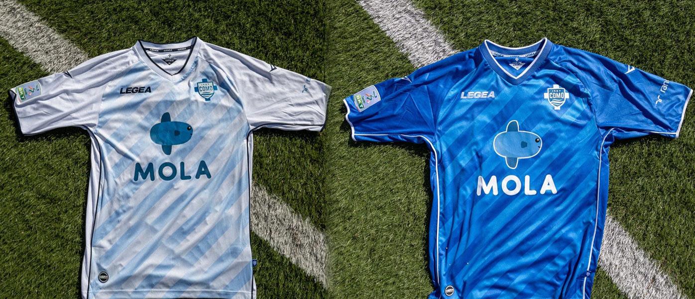 Le nuove maglie del Como 2021-2022