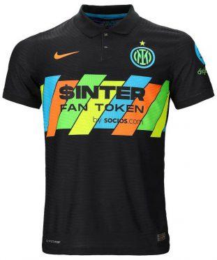 Sponsor Socios.com sulla terza maglia dell'Inter