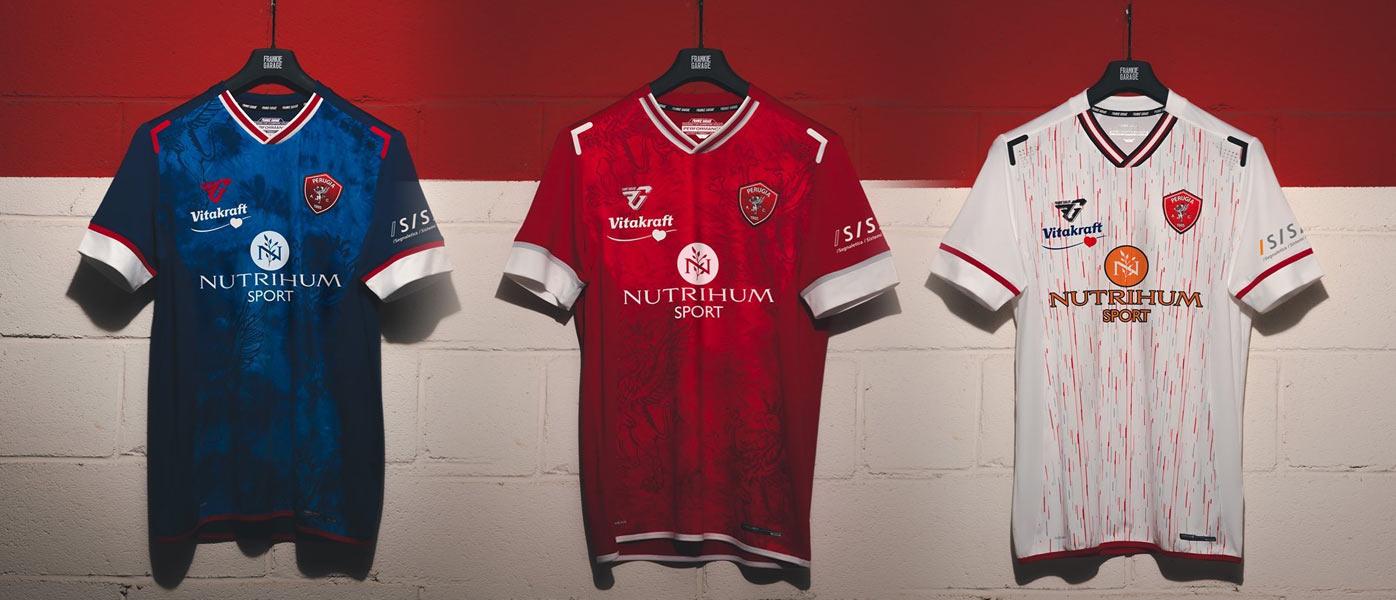 Le nuove maglie del Perugia 2021-2022