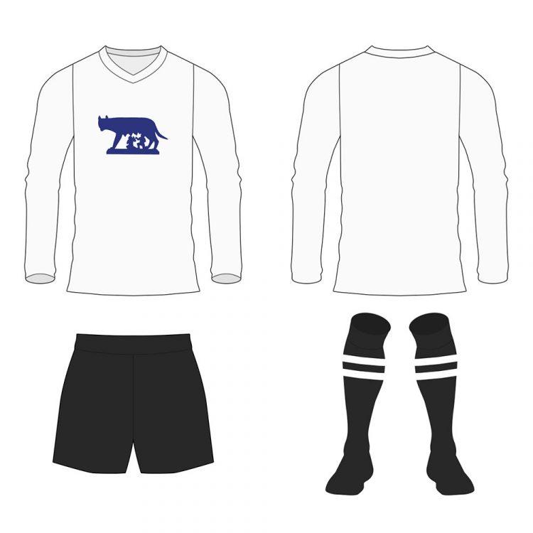 La maglia della selezione di Roma indossata contro il Viktoria nel 1928roma_viktoria_1928