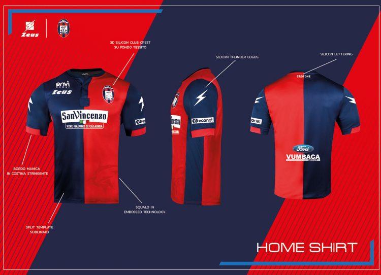 La nuova maglia del Crotone 2021-2022